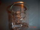 Gobelet Cristal Taillé Serti Cercle Métal Argenté H:7,5 Cms Diam:6,5 Cms - Verre & Cristal