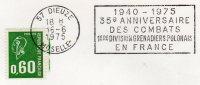 57  DIEUZE  1949/1975 35° Anniversaire Des Combats De La 1° Division De Grenadiers Polonais En France  16/06/75 - Guerre Mondiale (Seconde)