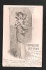 Fröhliche Ostern! Art Nouveau- Jolie Femme, Lapin, Poule.. Superbe! Théo Stroefer's N°5-  2 Scans. - Illustrateurs & Photographes