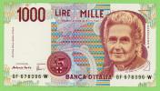 Italie - 1000 Lires -  N° GF 67396W - TTB - [ 2] 1946-… : République