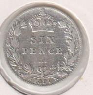 @Y@   Groot Britannie  Six Pence 1897   (1175)  Zilver / Ag / Prata - 1816-1901: 19. Jh.