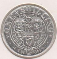 @Y@   Groot Britannie  1 Shilling 1896   (1181)  Zilver / Ag / Prata - I. 1 Shilling