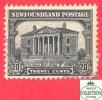 Canada  Newfoundland # 157 Scott /Unisafe - O -20  Cents - Colonial Building , St-Johns - Dated 1928 - Neufundland