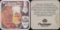 Sous-bock PLOCHINGER Waldhornbräu Beermat Coaster Bierdeckel Bierviltje (N) - Sous-bocks