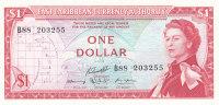 EAST CARIBBEANS $1 DOLLAR 1965 ***UNC*** P-13g - Caraïbes Orientales
