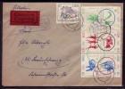 DDR: Mi-Nr 1034, 1039/44 Sechserblock Auf Eilbotenbrief ! - DDR