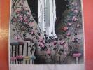 NF Notre Dame De Lourdes  19e   Textile ( Tekstiel )  Soie   ( Silk Zijde Seite ) Woven ( Geweven Artisanale ) 13cmX7,5 - Andachtsbilder
