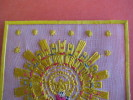 Notre Dame Del Pilar - Type Canivet  Textile Soie   ( Silk Zijde Seite )  -  Woven ( Geweven Artisanale )  - - Images Religieuses