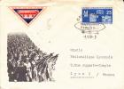"""DDR - ZEPPELIN - 1959 - ENVELOPPE Avec VIGNETTE  - VOL SOUVENIR """"BAUMGARTEN GEDENKFLUG"""" - Zeppelins"""