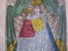 1816 - Mortuaire - Doodbericht Death Message Text On Reverse CHRISTINE DE SALES - De GYSELEN - Sjablon Colored Print - Images Religieuses