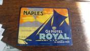 Etiquette Hotel Naples Grand Hotel Royal - Adesivi Di Alberghi