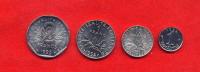 FRANCE -  SERIE 1 CENTIME + 1/2 FRANC + 1 FRANC + 2 FRANCS 1993 - PAS COURANT - France