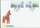 EUROPE CEPT 2012 FDC SWEDEN, TOURISM, TOERISME, TOURISMUS.  MNH, POSTFRIS, NEUF**. - 2012