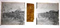 $3A4- WWI Militari Treno - Un Trasferimento Per Ferrovia 29/4/1919 - Vera Diapositiva Stereo In Vetro - Diapositiva Su Vetro