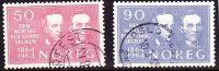 Norway 1964 100. Jahrestag Der Stiftung Der Volkshochschule Satz Michel 522 / 523 - Gebruikt