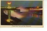 Prospect Point Tower And Falls Illuminated Niagara Falls 1968 - Chutes Du Niagara