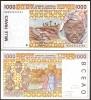 BENIN W. A. S. 1000 1,000 FRANC 2002 UNC P-211 B - Bénin