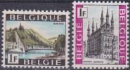 Belgique N° 1480 - 1481 ** Tourisme - Ourthe - Leuven - 1968 - Unused Stamps