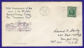 """96TH ANNIVERSARY OF THE ISSUE OF THE WORLD´S SECOND POSTAGE STAMP THE """"TWO PENNY BLUE"""" - 1902-1951 (Kings)"""