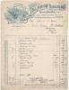 Agriculture -Facture + Marges Com  Fabrique De Matériel Agicole - Johnston Harvester PARIS NEW YORK Pour JARNAC 1919 TB - Automobile