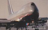 Télécarte Japon / 110-016 - AVION / UNITED AIRLINES - AIRLINE Plane JAPAN Phonecard USA - FLUGZEUG - 190 - Avions