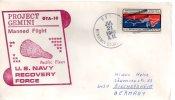 ★ US - PROJECT GEMINI - GTA 10 - USS BENJAMIN STODDERT (663) - FDC & Commemoratives