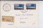 1961 - ENVELOPPE FDC RECOMMANDEE Avec CACHET Du BUREAU TEMPORAIRE De L'AEROPORT D'ORLY Pour JERADA (MAROC) - Cachets Commémoratifs