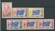 FRANCE 1958 YV SERVICE 17-21 CONSEIL DE L´EUROPE, EUROPEAN COUNCIL. MNH, POSTFRIS, NEUF**. - Europa-CEPT