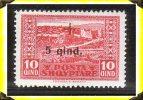 1924  - Croix Rouge -  TP* N°137 -   Albanie - Albania