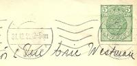 Sweden Enveloppe 1919 Michel Nr U 18 1 Y To Vasteras 31-12-1922 - Postwaardestukken