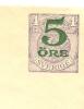 Sweden Enveloppe 1919 Michel Nr U 20 Unused - Postwaardestukken