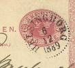 Sweden Postcard 1889 Michel Nr P20 Helsingborg 6-12-1889 To Lubeck - Postwaardestukken
