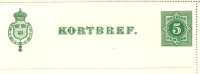 Sweden Lettercard 1891 Michel Nr K3 Unused - Postwaardestukken