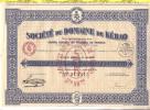 SOCIETE DU DOMAINE DE KEBAO  1930 - ACTION DE 100 FRS AU PORTEUT N 213415 - Andere