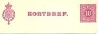 Sweden Lettercard 1891 Michel Nr K4a Unused - Postwaardestukken