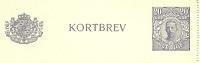 Sweden Lettercard 1921 Michel Nr K20 Unused - Postwaardestukken