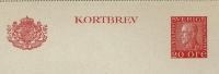 Sweden Lettercard 1942 Michel Nr K29 I Y (gez 11,5) Unused - Postwaardestukken