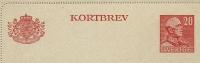 Sweden Lettercard 1946 Michel Nr K31 Unused - Postwaardestukken