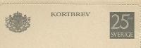 Sweden Lettercard 1951 Michel Nr K32 Unused - Postwaardestukken