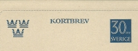 Sweden Lettercard 1957 Michel Nr K35 Unused - Postwaardestukken