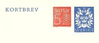 Sweden Lettercard 1964 Michel Nr K44D Unused - Postwaardestukken