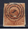 DK Dänemark 1851 Mi 1 IIb Kroninsignien - 1851-63 (Frederik VII)