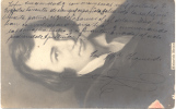 PIEZA HISTORICA JOSE MARIA IZQUIERDO A LOS 17 AÑOS - UNICA - RARISIME SOBRE POSTAL CIRCULADA - Autographes