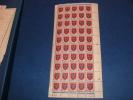 N° 838 En Demi Feuille De 50 Timbres Neuf** - Full Sheets