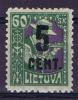 Lietuva / Lithuanie: 1922 Michel Nr 163 MH/ Neuf*,
