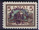 Lietuva / Lithuanie: 1924 Michel Nr 236 MH / Neuf*