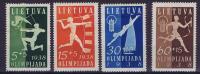 Lietuva / Lithuanie: 1938 Michel Nr 417-420, MH/Neuf*