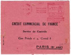 YOUGOSLAVIE - 1934 - ENVELOPPE COMMERCIALE Avec EMA De ZAGREB Pour Une BANQUE PARISIENNE - Covers & Documents