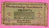Preussisch-Süddeutsche 1/10 Los Goldlotterie 1923 - Prussia-Southgermany 1/10 Gold Lottery Ticket  Deutschland / Germany - Billetes De Lotería