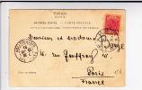 SERBIE - 1901 - CARTE POSTALE De NICHE Pour PARIS - TIMBRE SURCHARGE - Serbie